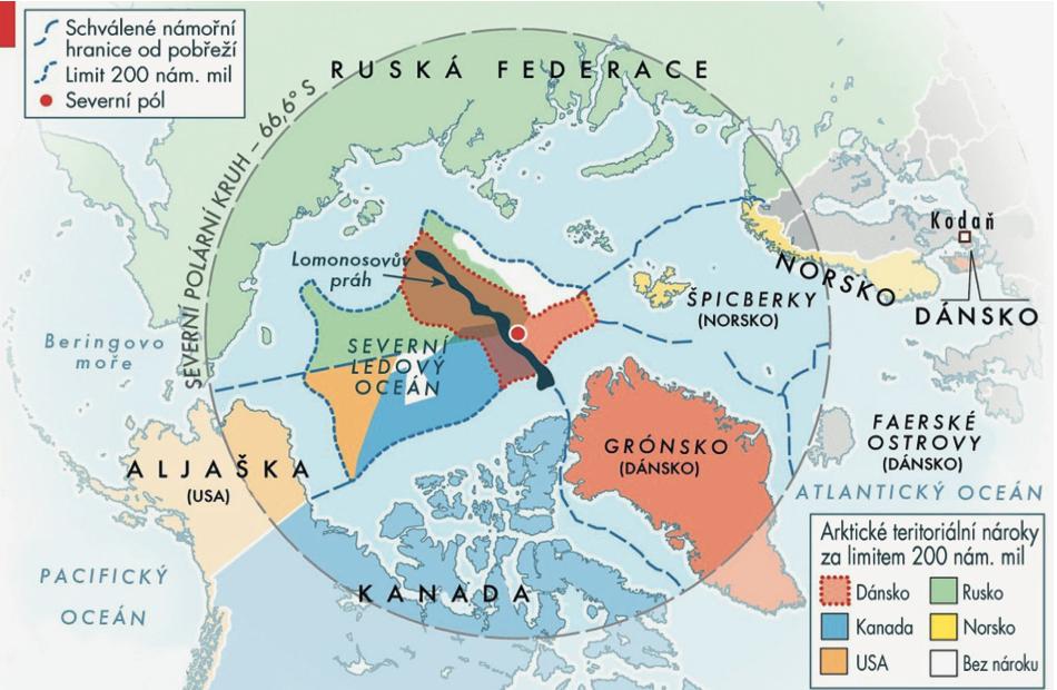 Mapa-Arktická oblast
